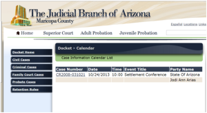 Jodi Arias Settlement Conference